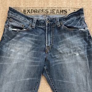 Men's express LOOSE Jeans sz 33x32 distressed